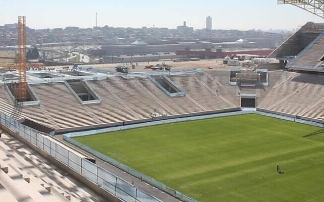 Estádio tem quase 85% de obras concluídas