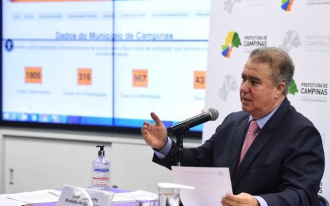 Prefeito Jonas Donizette adiou reabertura em Campinas