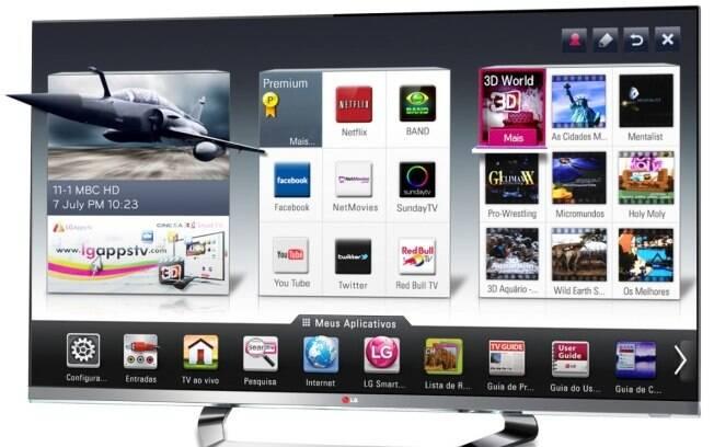 LM8600, um dos dois modelos da LG que reconhecem a voz do usuário ao comandar funções da TV