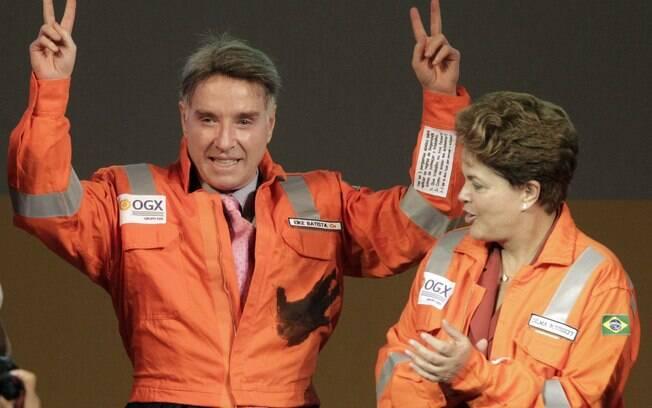 Ao lado da presidente Dilma, Eike Batista participa de evento da OGX. Foto: Reuters/Ricardo Moraes