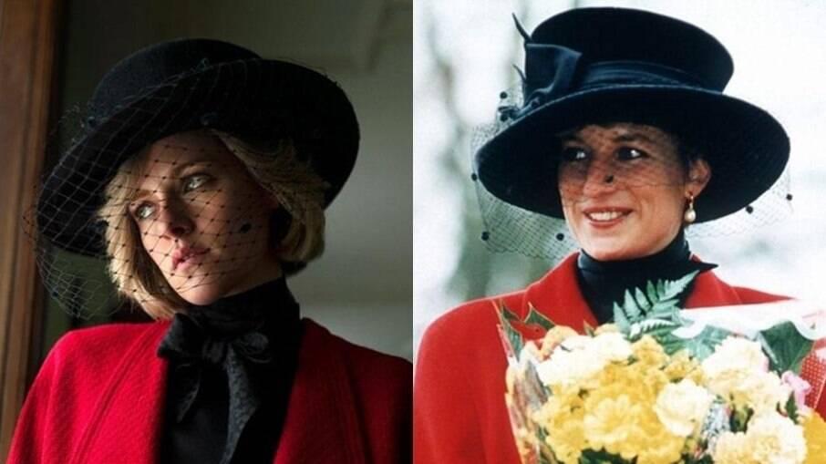 A atriz interpreta a princesa de Gales no cinema