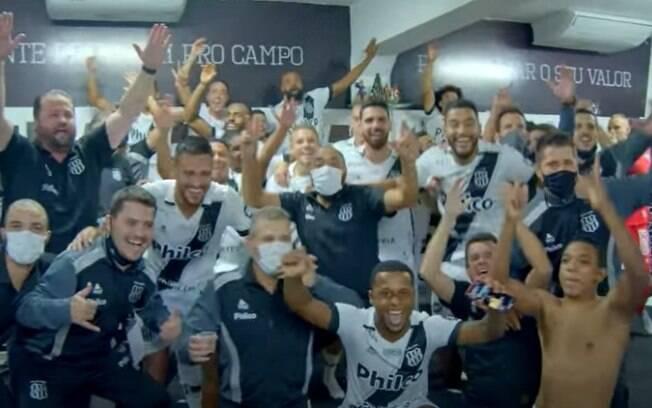 Ponte divulga vídeo com bastidores da vitória no dérbi