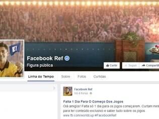A rede social criou o Facebook Ref, uma espécie de árbrito que discute lances, arbitragem e jogadas durante a Copa