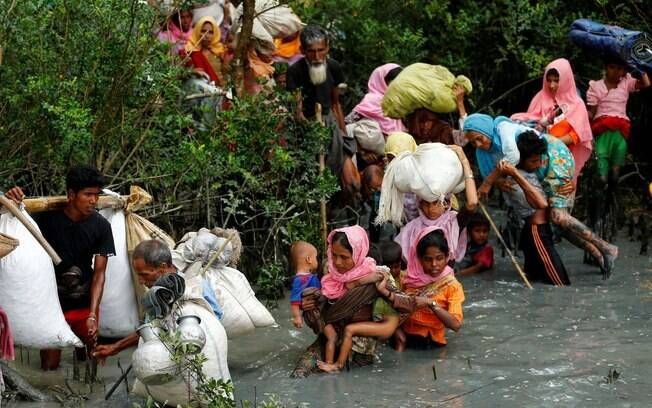 Entre agosto e dezembro de 2017, mais de 700 mil rohingya tiveram que fugir de Mianmar por causa de perseguição