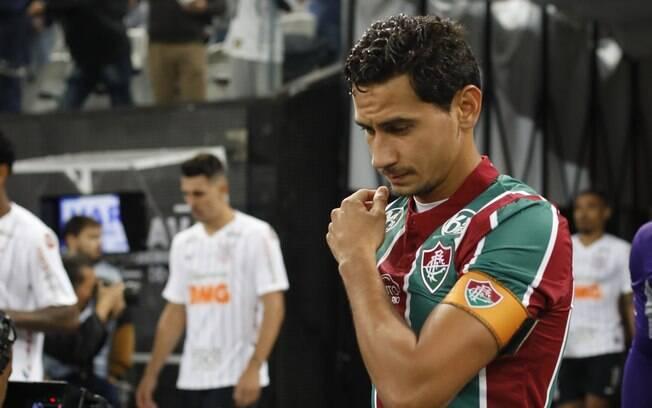 Paulo Henrique Ganso durante o jogo do Fluminense contra o Corinthians