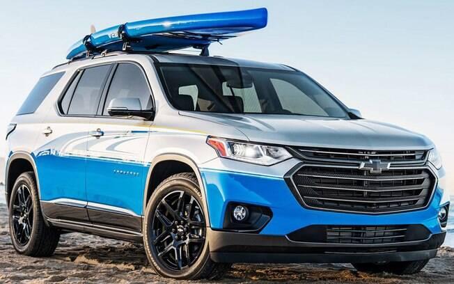 Chevrolet Traverse: SUV customizado para quem curto praticar stand-up paddle, uma espécie de surf com remo