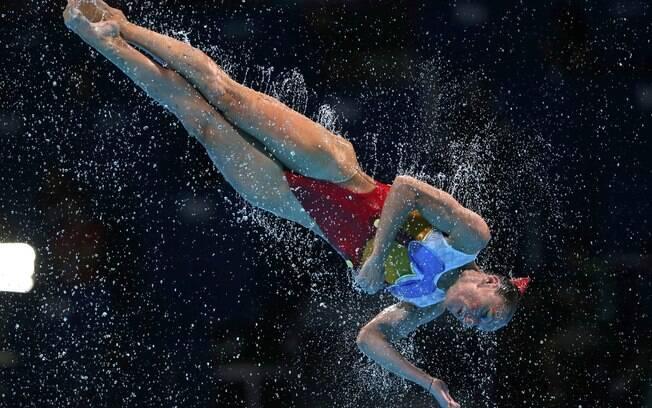 Mais uma da equipe italiana no Mundial de  esportes aquáticos em Barcelona, na Espanha