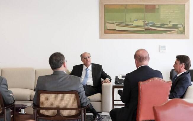 Geraldo Alckmin se encontrou com Jair Bolsonaro no Planalto