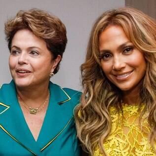 Dilma fotografa com Jennifer Lopez