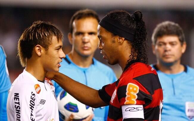 Cabelo escorrido no encontro com Ronaldinho  no Brasileirão de 2011