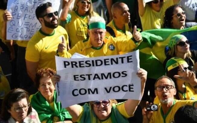 Manifestação pró-Bolsonaro foi destacada pelo presidente como atos pacíficos
