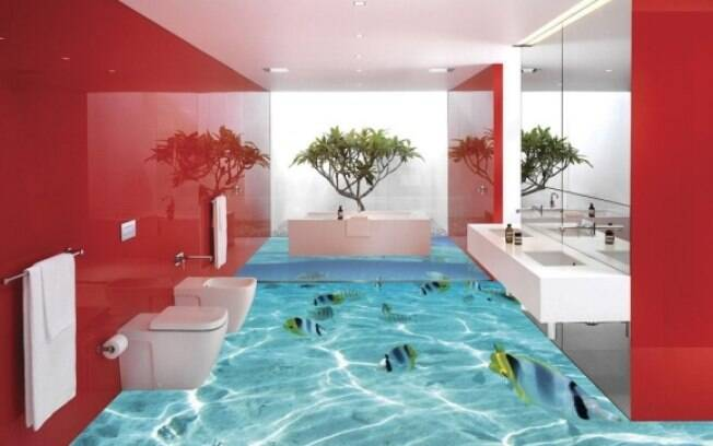 Já pensou ter a sensação de pisar sobre um aquário gigante dentro de casa?
