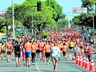 Mais de 3.000 pessoas participaram do evento, que teve largada em frente ao Big Shopping