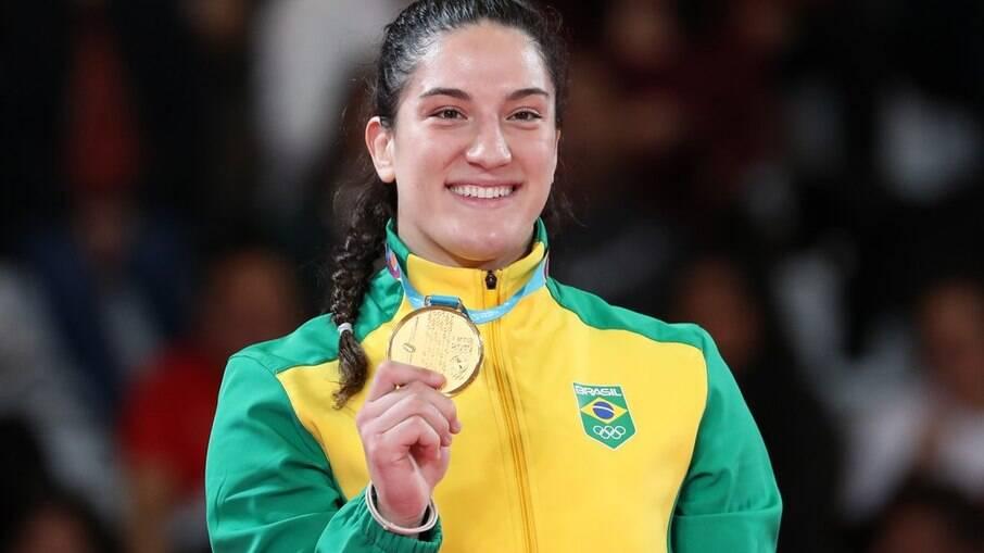 Mayra Aguiar é judoca