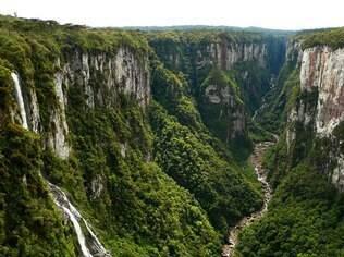 Vista do Canion Itaimbezinho, em Cabará do Sul