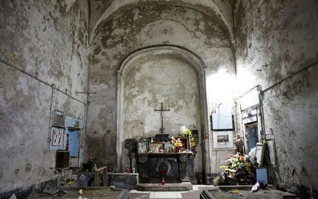 Interior da igreja de Santa Maire delle Anime dell Purgatorio
