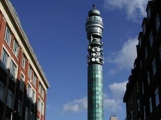 Teste foi feito a partir da torre da BT na região central de Londres
