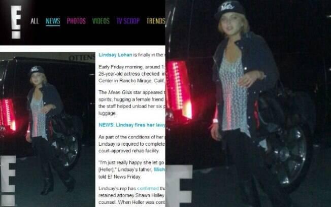Lindsay Lohan é fotografada chegando à clínica em maio