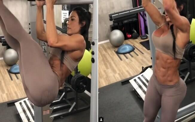 Gracyanne Barbosa rouba a cena no Instagram ao caprichar na academia
