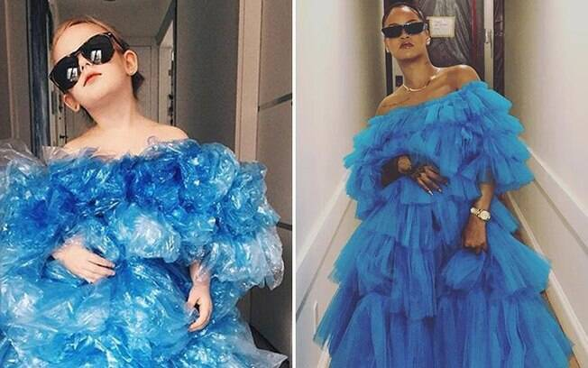 Rihanna foi uma das primeiras inspirações da mãe de Stefanie, que confecciona os vestidos com atenção nos detalhes