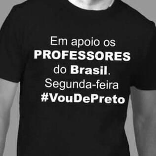 Nas redes sociais, professores de vários Estados vão trabalhar de preto em repúdio à repressão dos professores do Paraná