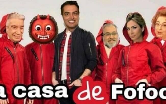 Meme postado pelo apresentador Leo Dias