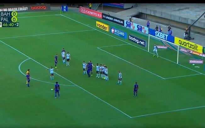 cena do jogo entre Palmeiras e Bahia