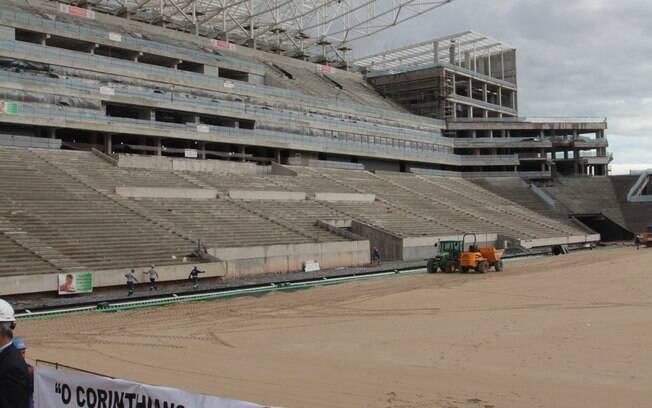 Vista da arquibancada da Arena Corinthians