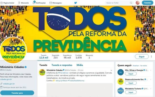Erro deixou mensagem negativa sobre a Reforma da Previdência no Twitter de ministério: