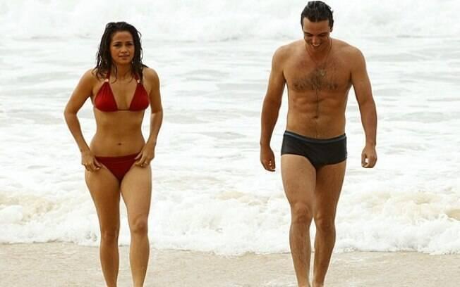 Nanda Costa e Rodrigo Lombardi gravaram cenas de 'Salve Jorge' nesta sexta-feira (26)