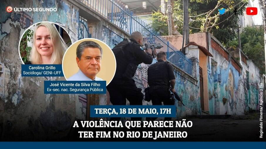 Live terá um debate sobre a violência no Rio de Janeiro