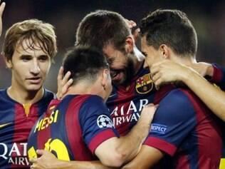 Sem grande atuação do setor ofensivo, coube ao zagueiro Piqué marcar o gol da vitória