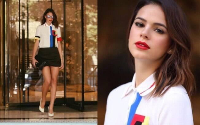 Maquiagem que realça a boca é ótima opção para mulheres com olhos pequenos, assim como a atriz Bruna Marquezine