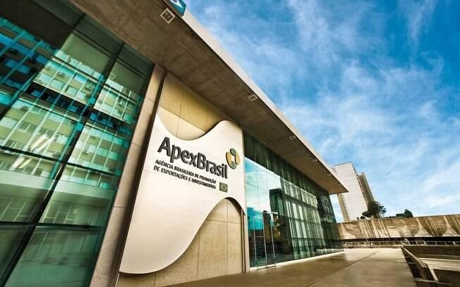 Fachada da sede da Apex Brasil