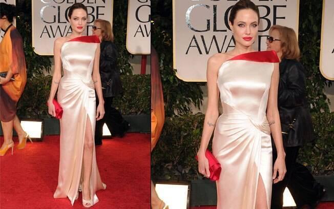 Angelina Jolie no Globo de Ouro em janeiro: outro look Versace