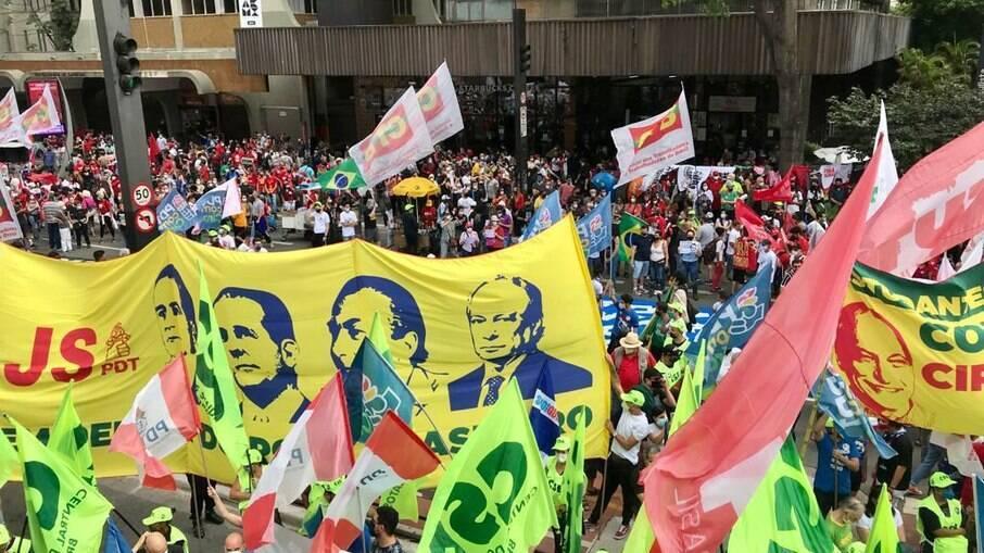 Manifestação contra o presidente Jair Bolsonaro