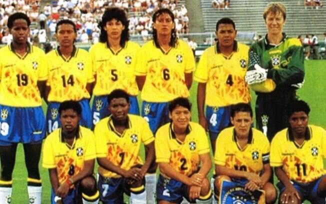A seleção do Brasil disputou o primeiro Mundial em 1991