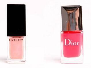 Esmaltes importados, Givenchy e Dior