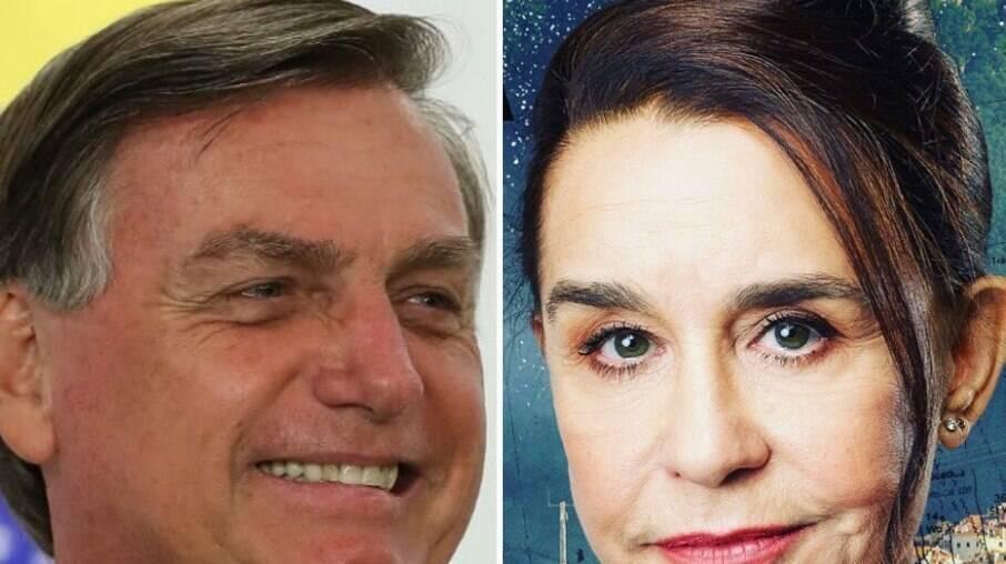 Jair Bolsonaro e Lucélia Santos