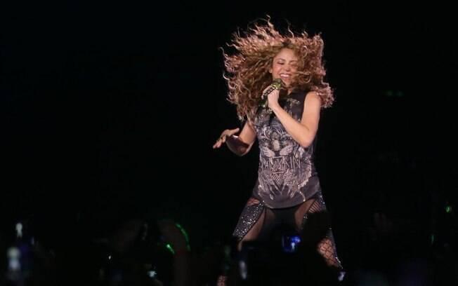 Shakira fez show em São Paulo no ano passado