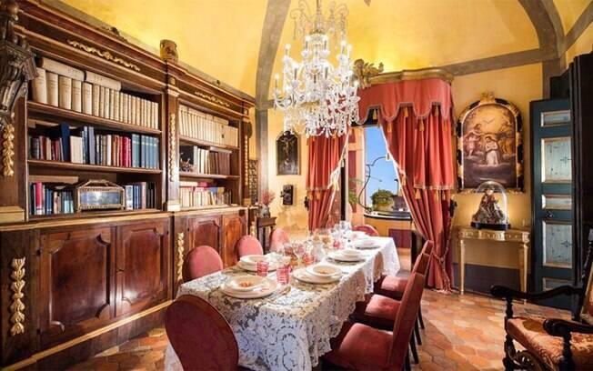 Sala de jantar do Palazzo Santa Croce