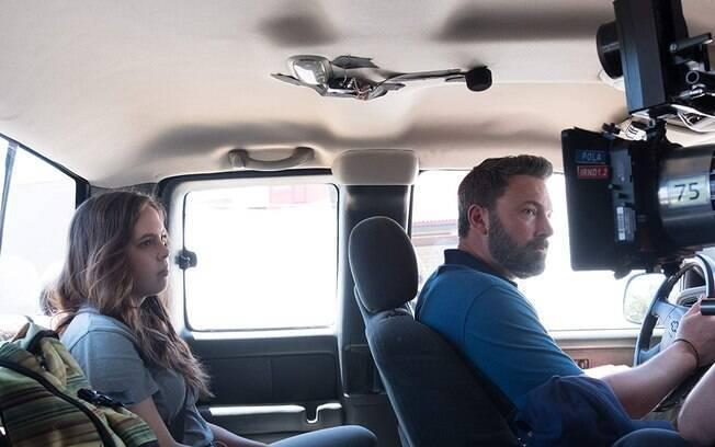Ben Affleck durante as gravações de Operação Fronteira