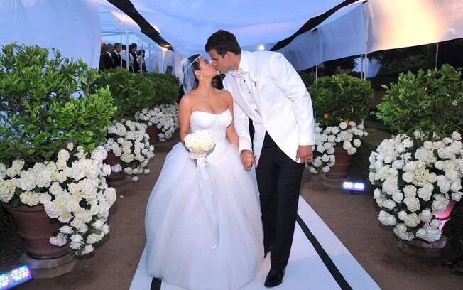 O casamento de Kim Kardashian e Kris Humphries foi televisionado em um reality show