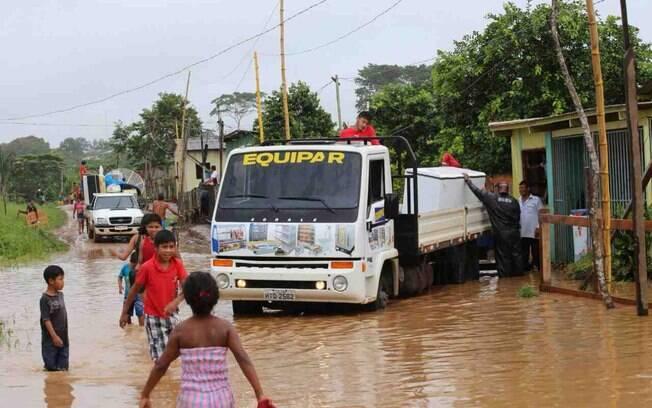 Seis municípios do Acre têm desabrigados: Assis Brasil, Brasileia, Epitaciolândia, Xapuri, Cruzeiro do Sul e Rio Branco sofrem com as enchentes. Foto: Agência de Notícias do Acre