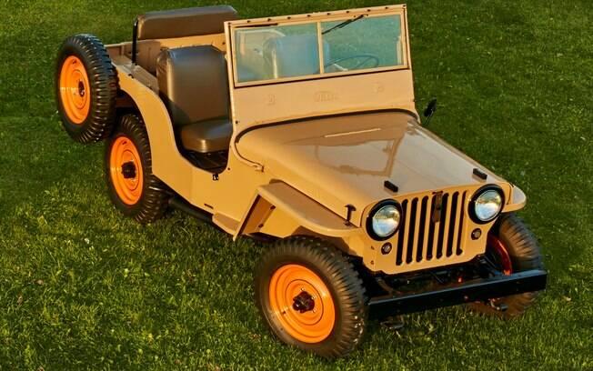 Primeiro modelo ciivil da Jeep tinha estepe preso na parte esquerda, mais exatamente no para-lama traseiro
