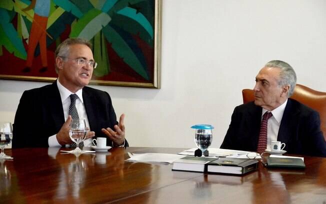 Pautas da reunião fazem parte de um acordo selado entre Temer e Renan