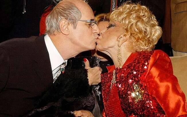 Marcos Caruso e Dercy Gonçalves: relação de tapas e beijos