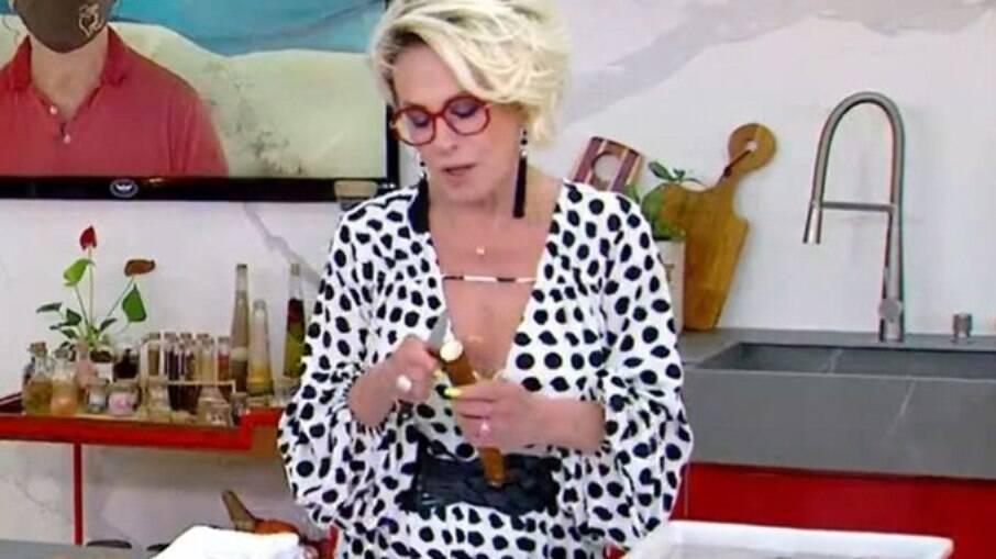 Ana Maria Braga diverte internautas com mandioca