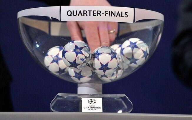 Sorteio das quartas de final da Liga dos Campeões