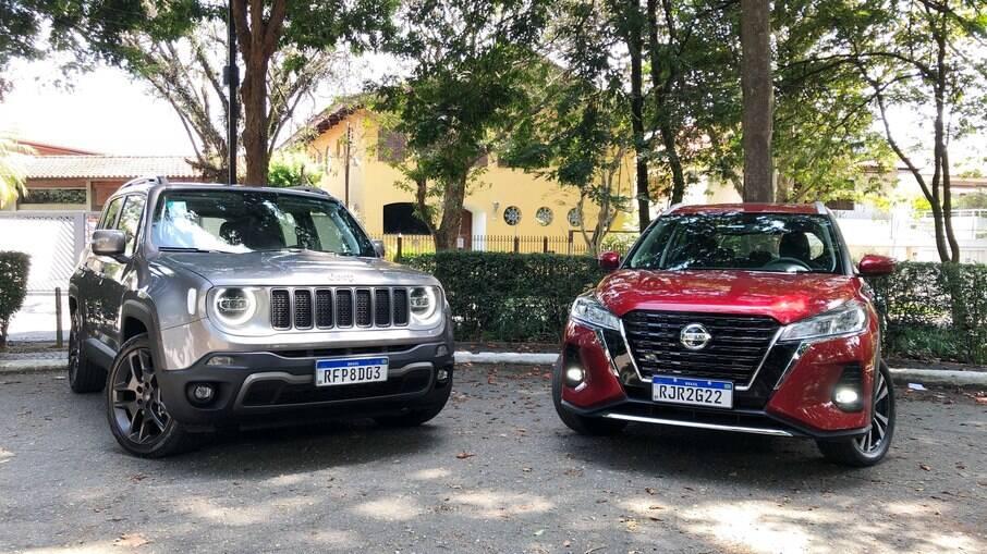 Nissan Kicks e Jeep Renegade: melhoras no modelo da marca japonesa foram bem-vindas, mas o rival também mudará